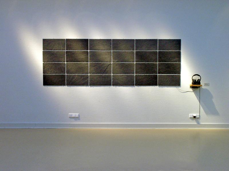 rauke Eckhardt, Klangkunst, Saarbrücken, Ort, Schiefer 4x6